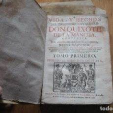 Libros antiguos: QUIJOTE, CERVANTES, DON QUIXOTE, MADRID, 175O, PERGAMINO ORIGINAL, SOLO TOMO 1, .XILOGRAFIAS. Lote 65904662