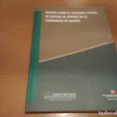 Libros antiguos: ESTUDIO SOBRE EL CONSUMO JUVENIL DE DROGAS DE SÍNTESIS EN LA COMUNIDAD DE MADRID. Lote 94465266
