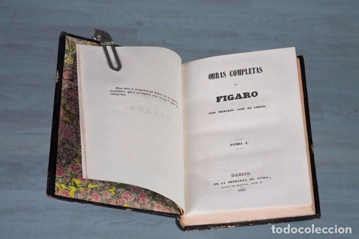 FÍGARO OBRAS COMPLETAS - MARIANO JOSÉ DE LARRA - TOMO 1 - MADRID 1843 (Libros Antiguos, Raros y Curiosos - Literatura - Otros)