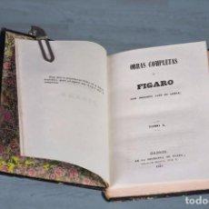 Libros antiguos: FÍGARO OBRAS COMPLETAS - MARIANO JOSÉ DE LARRA - TOMO 1 - MADRID 1843. Lote 94641915
