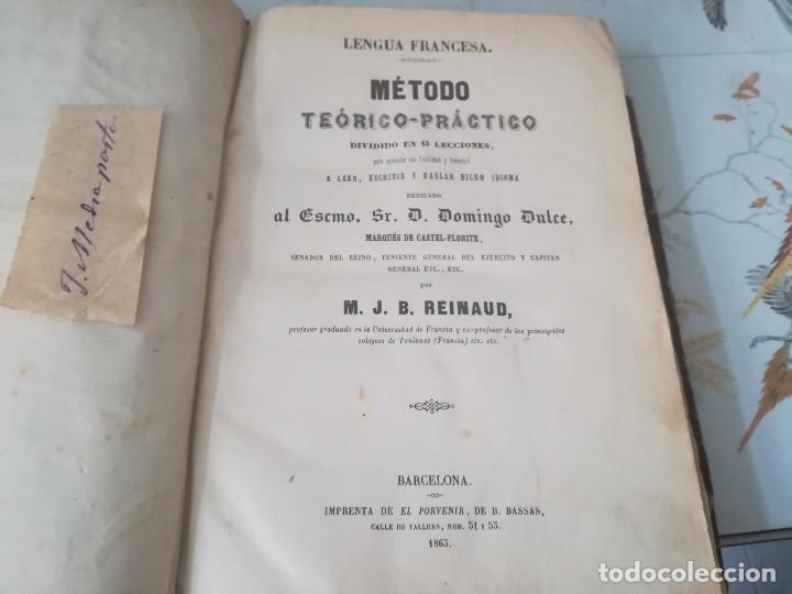 LIBRO MÉTODO TEÓRICO-PRÁCTICO DIVIDIDO EN 45 LECCIONES POR M. J. B REINAUD BARCELONA AÑO 1863 (Libros Antiguos, Raros y Curiosos - Ciencias, Manuales y Oficios - Otros)
