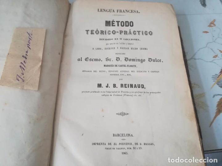 Libros antiguos: Libro método teórico-práctico dividido en 45 lecciones por M. J. B Reinaud Barcelona año 1863 - Foto 4 - 94704663