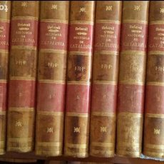 Libros antiguos: HISTORIA CRÍTICA (CIVIL Y ECLESIÁSTICA) DE CATALUÑA. 9 VOLS. ANTONIO DE BOFARULL Y BROCÁ. O. C.. Lote 94872715