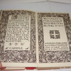 Libros antiguos: THE CONQUEST OF GRANADA. WASHINGTON IRVING. . Lote 94899887