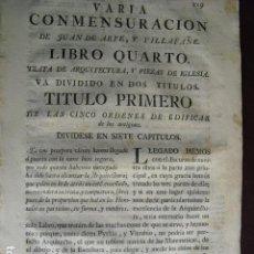 Libros antiguos: 1773 LIBRO CUARTO Y ULTIMO DE LA VARIA COMMENSURACIÓN. Lote 94993363