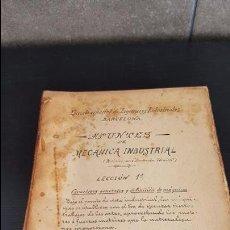 Libros antiguos: ESCUELA ESPECIAL DE INGENIEROS INDUSTRIALES BARCELONA.APUNTES DE MECANICA INDUSTRIAL.REVISADOS POR .. Lote 95044863