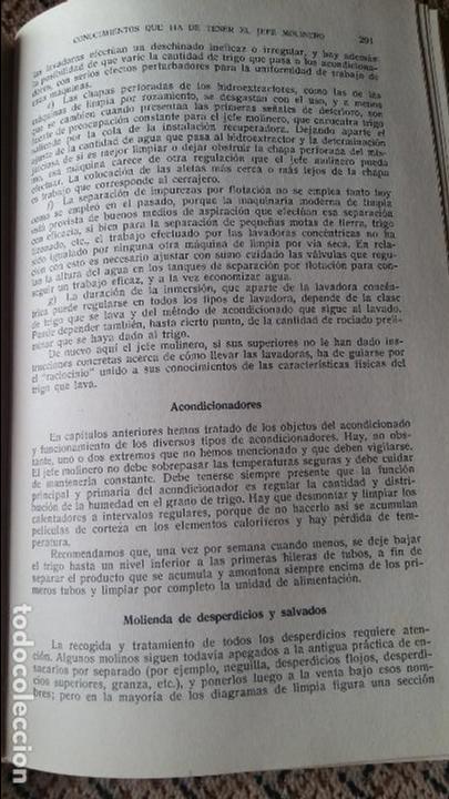 Libros antiguos: TECNOLOGIA DE LA MOLIENDA DE TRIGOS. LESLIE SMITH. 1936. CONTIENE DESPLEGABLE - Foto 4 - 95064967