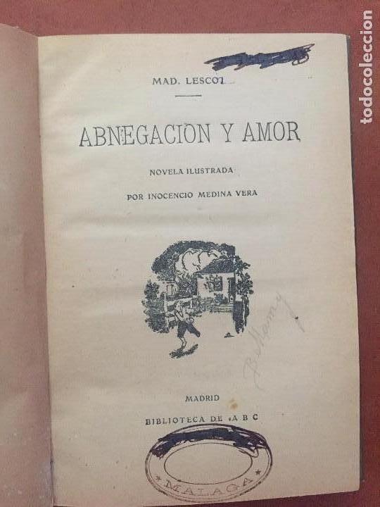 Libros antiguos: ABNEGACION Y AMOR - Foto 5 - 95065551