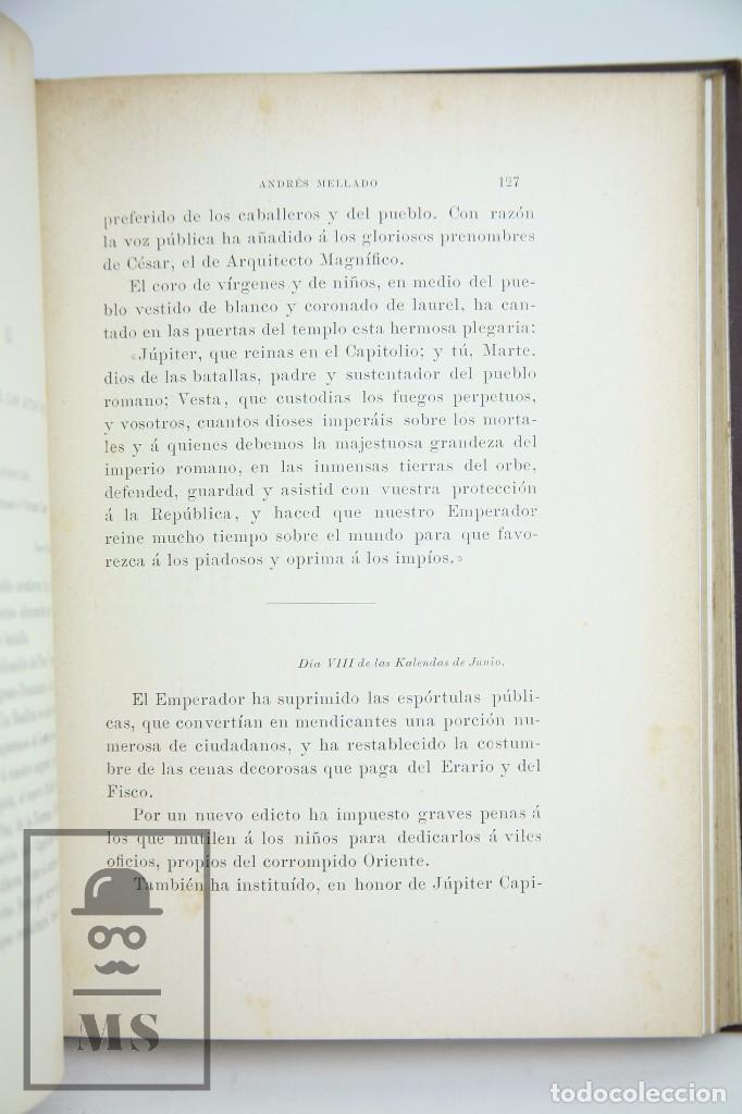 Libros antiguos: Antiguo Libro Ilustrado - En Roma. Escenas y cuadros por Andrés Mellado - Henrich y Cía, 1899 - Foto 2 - 95125327