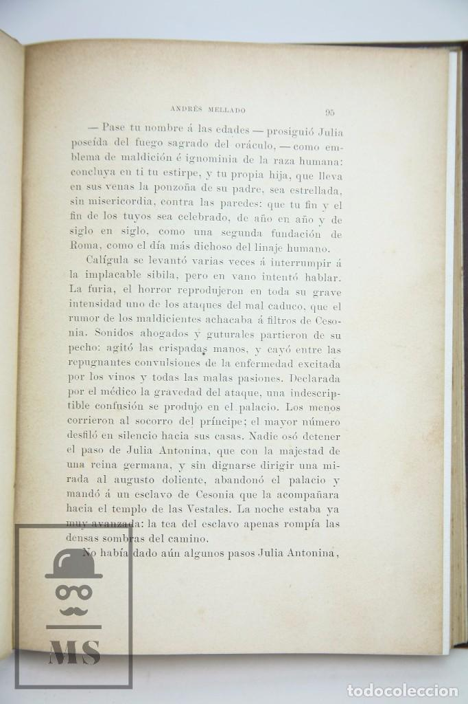 Libros antiguos: Antiguo Libro Ilustrado - En Roma. Escenas y cuadros por Andrés Mellado - Henrich y Cía, 1899 - Foto 4 - 95125327