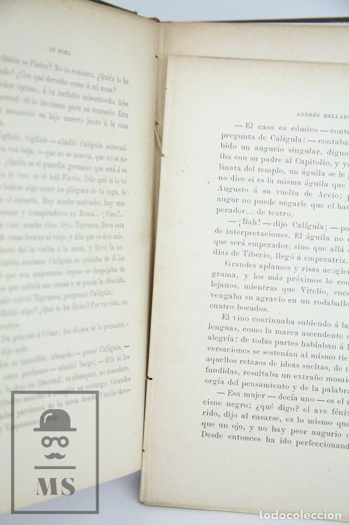 Libros antiguos: Antiguo Libro Ilustrado - En Roma. Escenas y cuadros por Andrés Mellado - Henrich y Cía, 1899 - Foto 5 - 95125327