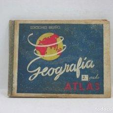 Libros antiguos: GEOGRAFIA-ATLAS - 2º GRADO O CURSO MEDIO - EDICIONES BRUÑO. Lote 95394863