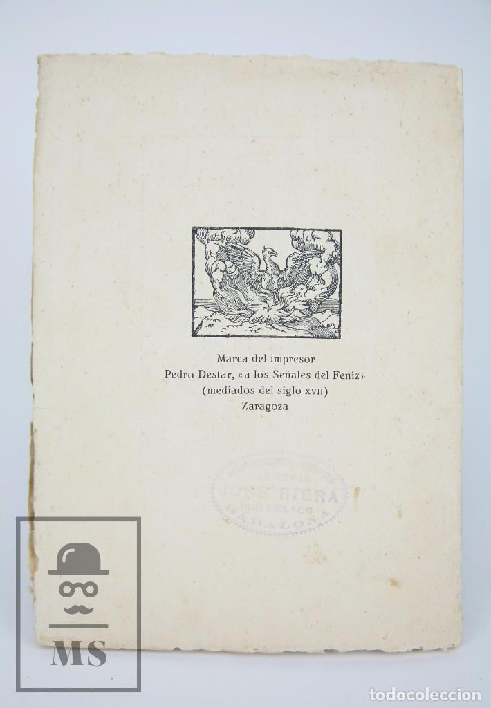 Libros antiguos: Antiguo Libro - El Libro Español. Víctor Oliva - Día del Libro, 1930 -Cámara Oficial Libro Barcelona - Foto 6 - 95537687