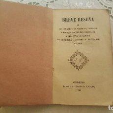 Libros antiguos: BREVE RESEÑA. . Lote 95616491