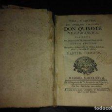 Libros antiguos: DON QUIXOTE 1777. IMPRENTA D. ANTONIO DE SANCHA. Lote 95664391