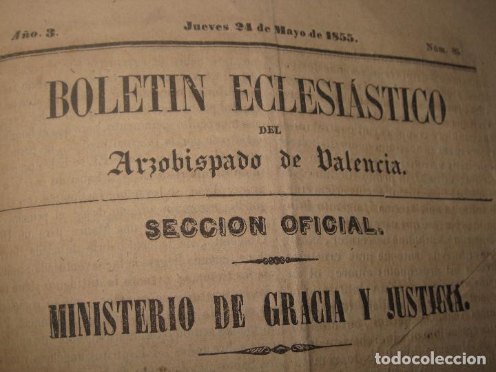 Libros antiguos: periodicos UN AÑO 1885 BOLETIN ECLESIASTICO ARZOISPO DE VALENCIA Siglo XIX MPRENTA EL VALENCIANO - Foto 13 - 78837001