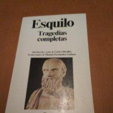 Libros antiguos: TRAGEDIAS COMPLETAS. Lote 95773595
