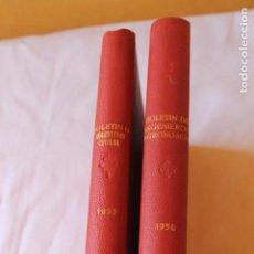 Libros antiguos: BOLETINES, INSTITUTO DE INGENIEROS CIVILES DE ESPAÑA, 1953 Y 1958 COMPLETOS. Lote 95895867