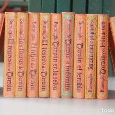 Libros antiguos: TARZÁN, EDGAR RICE BURROUGHS, GUSTAVO GILI ED., 1929, 11 TOMOS, COMPLETA. Lote 96065511