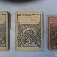 Libros antiguos: VALLE INCLÁN: LA LÁMPARA MARAVILLOSA (1922), TABLADO DE MARIONETAS (1930), MARTES DE CARNAVAL (1930). Lote 96068603