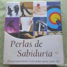 Libros antiguos: PERLAS DE SABIDURÍA 3. FRASES SELECTAS PARA CADA DÍA DEL AÑO. AURORA PRODUCTION 2008. CAJA ORIGINAL. Lote 96107035