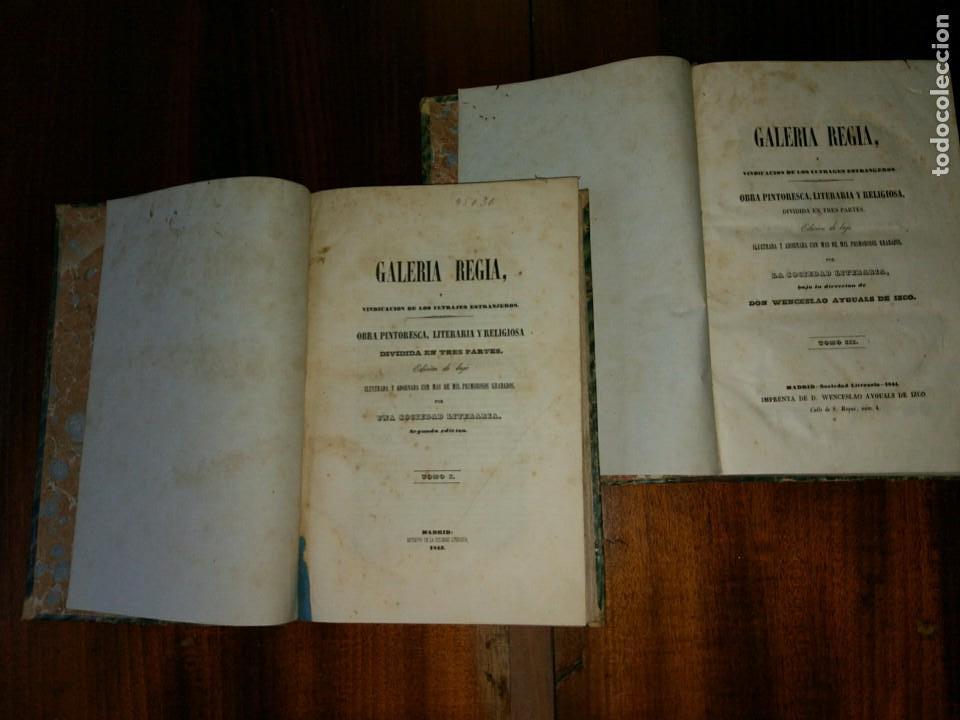 GALERÍA REGIA Y VINDICACIÓN DE LOS ULTRAJES ESTRANJEROS. 4 TOMOS EN 2 VOL. WENCESLAO AYGUALS.1843 (Libros Antiguos, Raros y Curiosos - Historia - Otros)