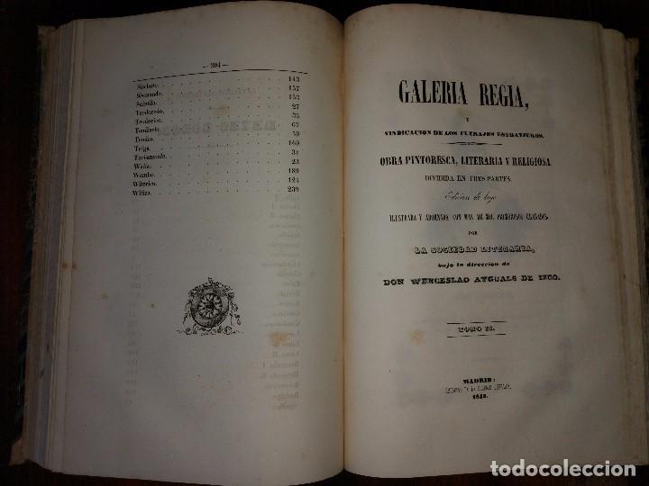 Libros antiguos: Galería Regia y Vindicación de los Ultrajes Estranjeros. 4 tomos en 2 vol. Wenceslao Ayguals.1843 - Foto 2 - 96110995