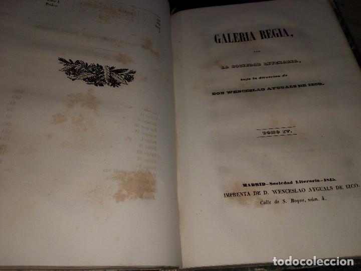 Libros antiguos: Galería Regia y Vindicación de los Ultrajes Estranjeros. 4 tomos en 2 vol. Wenceslao Ayguals.1843 - Foto 3 - 96110995
