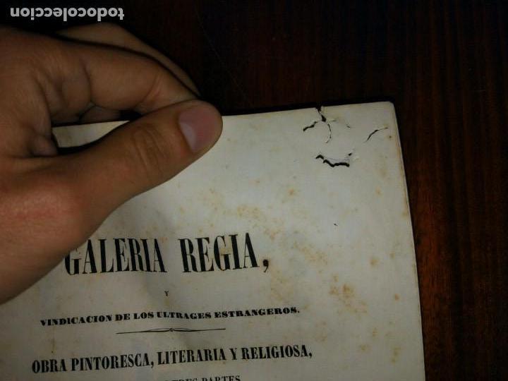 Libros antiguos: Galería Regia y Vindicación de los Ultrajes Estranjeros. 4 tomos en 2 vol. Wenceslao Ayguals.1843 - Foto 7 - 96110995
