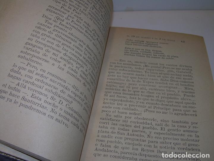 Libros antiguos: LIBRO TAPAS DE PIEL.EPISODIOS NACIONALES.DEL 19 DE MARZO AL 2 DE MAYO. Y BAILEN.EN EL MISMO TOMO. - Foto 5 - 96172263