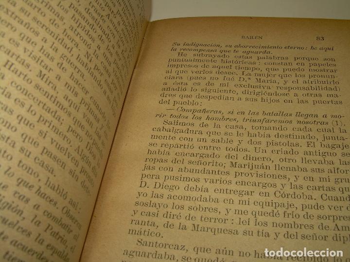 Libros antiguos: LIBRO TAPAS DE PIEL.EPISODIOS NACIONALES.DEL 19 DE MARZO AL 2 DE MAYO. Y BAILEN.EN EL MISMO TOMO. - Foto 6 - 96172263