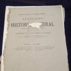 Libros antiguos: JML ENTREGA LIBRO LA CREACION HISTORIA NATURAL, UAN VILANOVA Y PIERA, MONTANER Y SIMON, 1874. VER FO. Lote 96214987