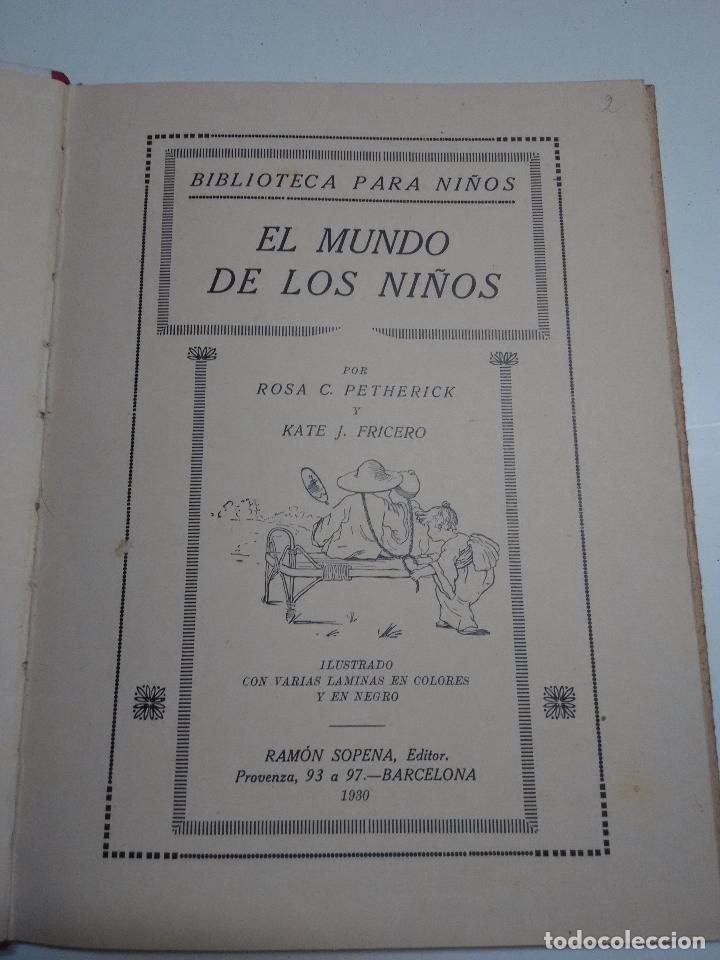 Libros antiguos: El mundo de los niños. Ramon Sopena - Foto 2 - 96237947