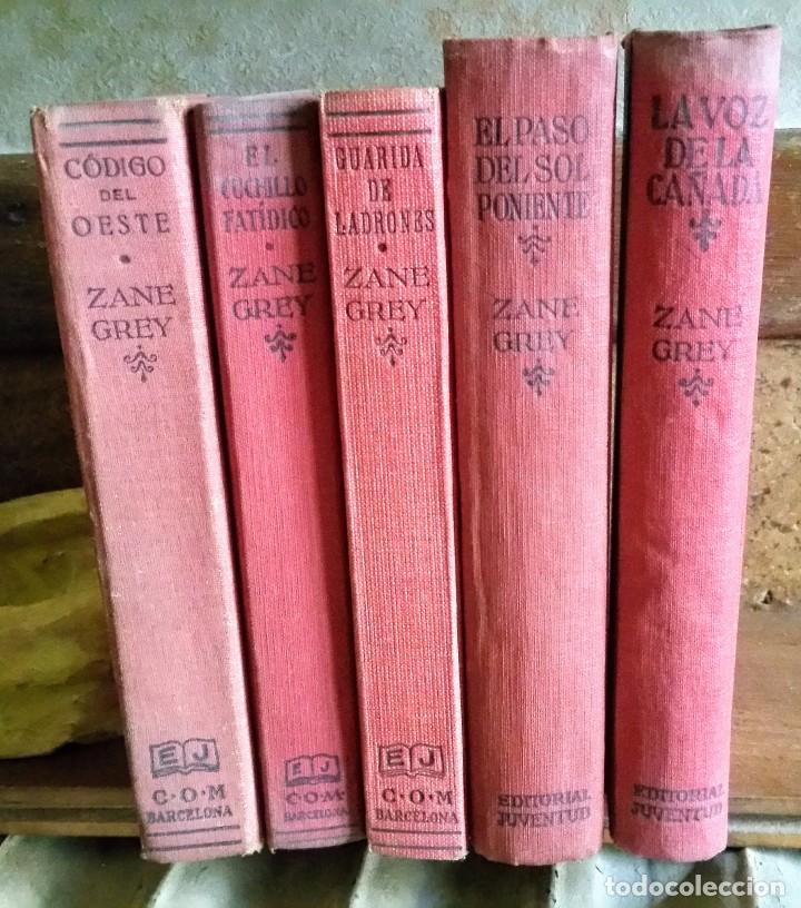 5 NOVELAS DE ZANE GREY 1ª EDICIÓN (Libros Antiguos, Raros y Curiosos - Literatura - Otros)