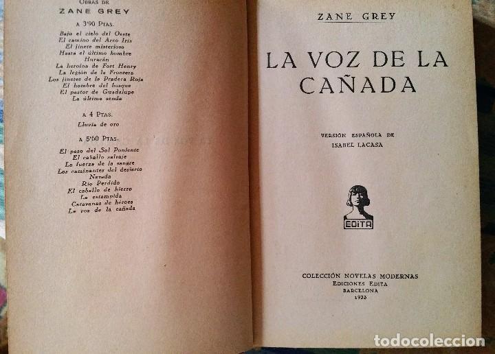 Libros antiguos: 5 novelas de zane grey 1ª edición - Foto 12 - 96334675