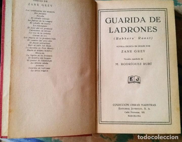 Libros antiguos: 5 novelas de zane grey 1ª edición - Foto 16 - 96334675