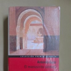 Libros antiguos: EL MANUSCRITO CARMESÍ ANTONIO GALA NUEVO PRECINTADO. Lote 96354131