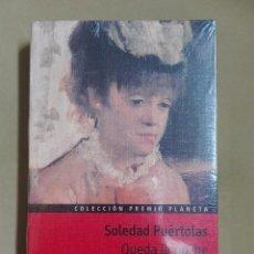 Libros antiguos: QUEDA LA NOCHE SOLEDAD PUERTOLAS PREMIO PLANETA 1989 NUEVO PRECINTADO. Lote 96355323