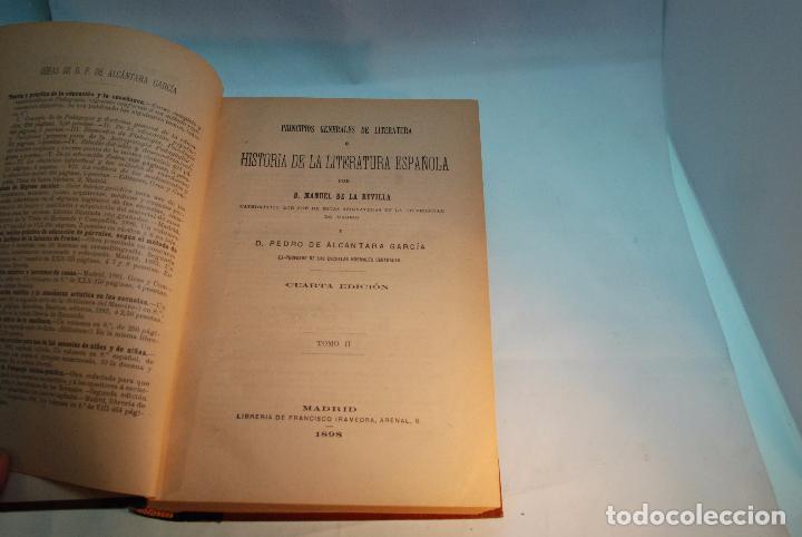 Libros antiguos: HISTORIA DE LA LITERATURA ESPAÑOLA - TOMOS I Y II - REVILLA Y ALCÁNTARA - MADRID - 1897 - - Foto 7 - 96368355