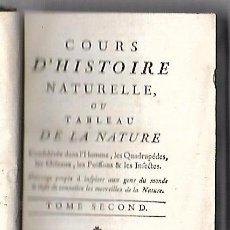 Libros antiguos: CURSO DE HISTORIA NATURAL. TOMO SEGUNDO. 1770. PARIS. GRABADOS. CHEZ DESAINT. LEER. VER. Lote 96486427