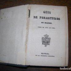 Libros antiguos: (F.1) GUIA DE FORASTEROS EN MADRID PARA EL AÑO 1855 . Lote 96493363