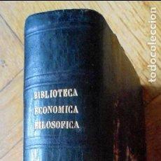 Libros antiguos: TOMAS DE AQUINO.BIBLIOTECA ECONÓMICA FILOSÓFICA.1891. Lote 96611555