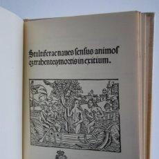 Libros antiguos: ''STULTIFERAE NAVES'' (LA NAVE DE LOS LOCOS) 1500. Lote 96664307