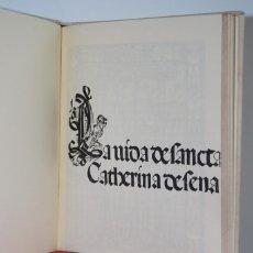 Libros antiguos: ''LA VIDA DE SANTA CATHERINA DE SENA'' 1499. Lote 96664551