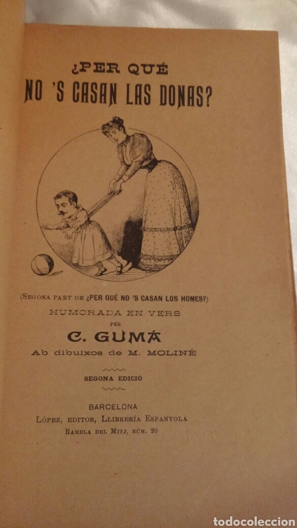 Libros antiguos: C.GUMA HUMORADES EN VERS - Foto 2 - 96943851