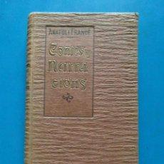 Libros antiguos: CONTES Y NARRACIONS. ANATOLE FRANCE. BIBLIOTECA D'EL POBLE CATALA. 1907. Lote 96956931