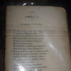 Libros antiguos: FABULAS LIBRO ANTIGUO SIGLO XIX FALTAN 14 PAGINAS CONSTA DE 3 LIBROS INTERIORES. Lote 95646919