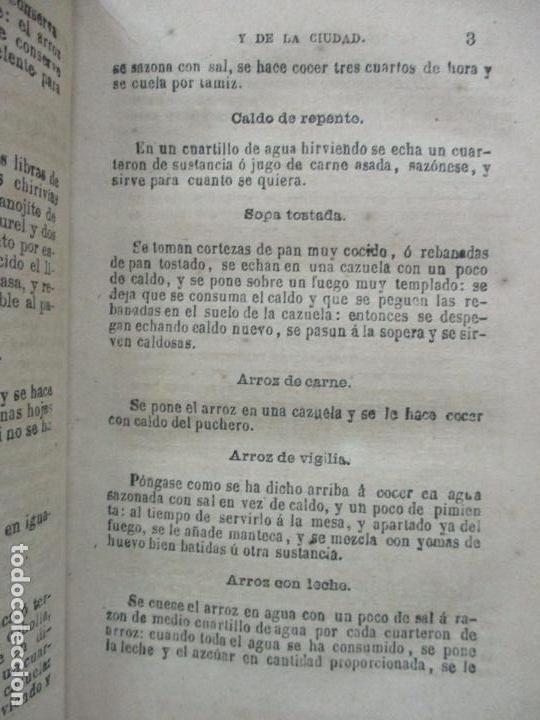 Libros antiguos: LA COCINERA DEL CAMPO Y DE LA CIUDAD Ó NUEVA COCINERA ECONÓMICA. 1883. - Foto 3 - 97070823