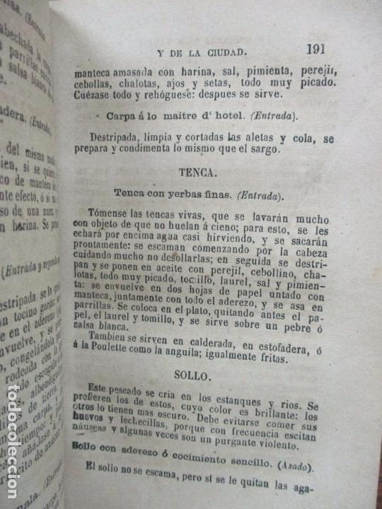 Libros antiguos: LA COCINERA DEL CAMPO Y DE LA CIUDAD Ó NUEVA COCINERA ECONÓMICA. 1883. - Foto 5 - 97070823