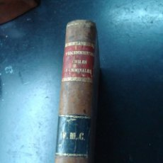 Libros antiguos: ANTIGUO LIBRO PROCEDIMIENTOS CIVILES Y CRIMINALES 1877 - FRANCISCO LASTRE. Lote 97079315